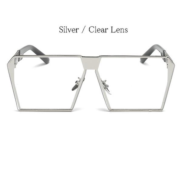 Silver Frame Lens Clear