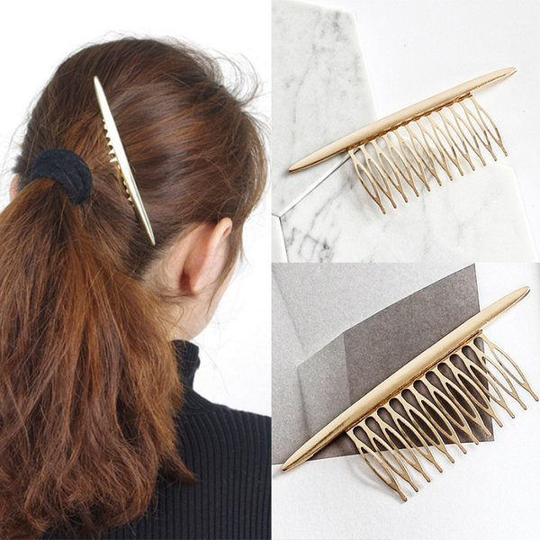 Hair Jewelry Hot Selling Alloy Golden Comb Clip For Women Korean Fashion Accessories 2016 New Wholesale NICE
