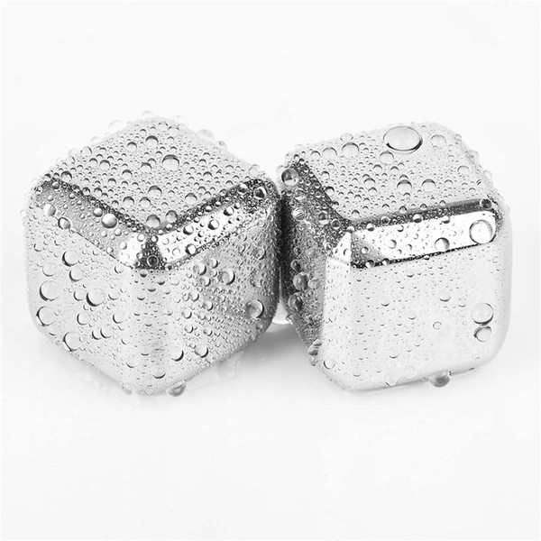 Wine Ice Cubes,Stainless Steel Reusable Whiskey Stones,Best Whiskey Chiller,Whisky Chilling Rocks,Drinks Cooler Cubes 4pcs=1 pack 20 packs