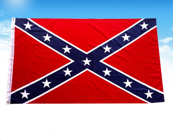 top popular Confederate States Rebel Flags Civil War Southern South Battle Dixie Flag National Polyester Flags 90*150cm 2019