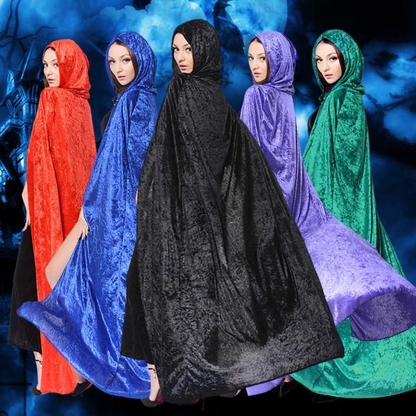 Nueva Moda de Halloween capas de capuchas y capas disfraces de Halloween Bruja Navidad Capa trajes de disfraces Cosplay para adultos mujeres hombres