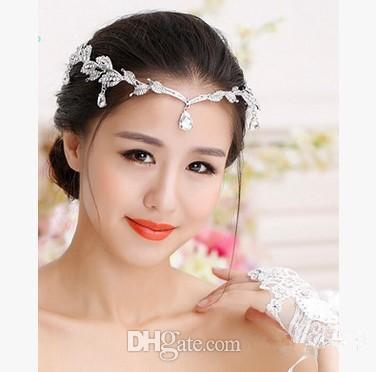 Cheap Silver Gold Wedding Accessories Bridal Tiaras Crystal Rhinestone Hair Bands Bridesmaid Women Hair Jewelry Crowns Headband