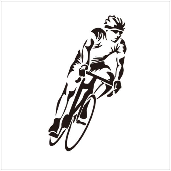 Etiqueta de la pared de los deportes para los muchachos atleta Bike Racing Mural de la pared para la sala de estar y sala de niños decoración del hogar