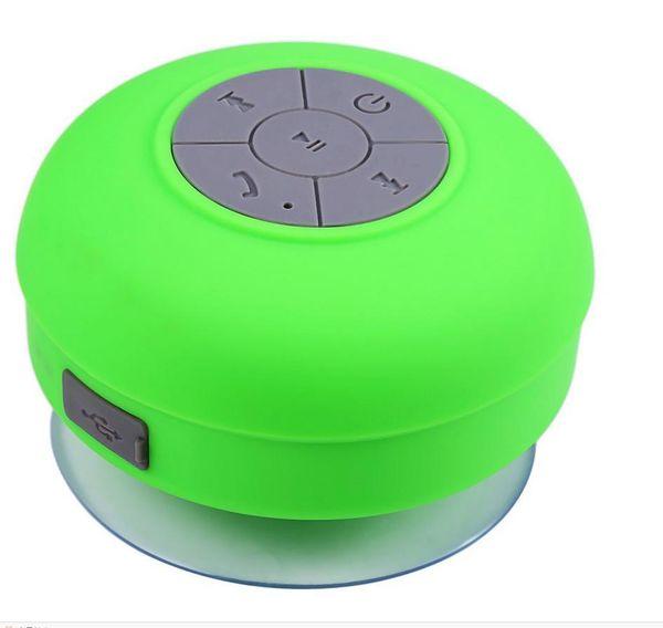 50PCS BTS-06 Waterproof Speaker Subwoofer Bluetooth Speaker Stereo Shower Wireless Mini with Sucker Music Audio Receiver Phone Call