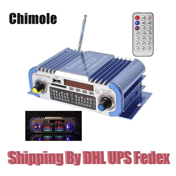 2 Channels Mini Hi-Fi Digital Motorcycle Auto Car Stereo Power Amplifier Sound Mode Audio Music Player Support USB FM SD DVD MP3