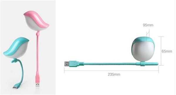 New Cute Bird Night Light USB LED Light Lamp Per Mobile Power Bank Laptop Key Board Protezione degli occhi Camera da letto Lampada da comodino