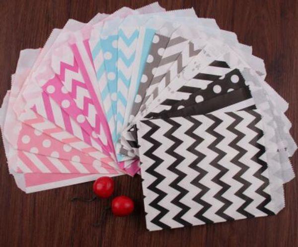 25 unids 5x7 pulgadas de papel bolsa de palomitas de maíz para el cumpleaños de la boda caramelo del convite del convite del favor bolsas de regalos del partido regalos decoración