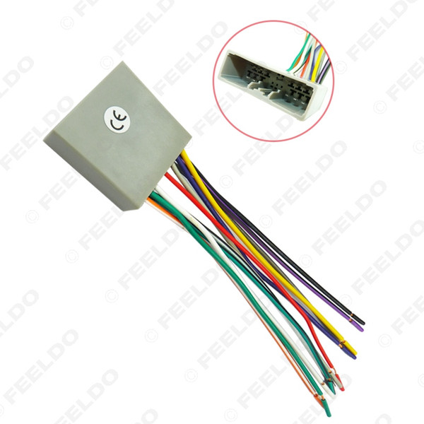 honda wiring harness car cd player radio audio stereo wiring harness adapter plug for 100pcs lot car cd player