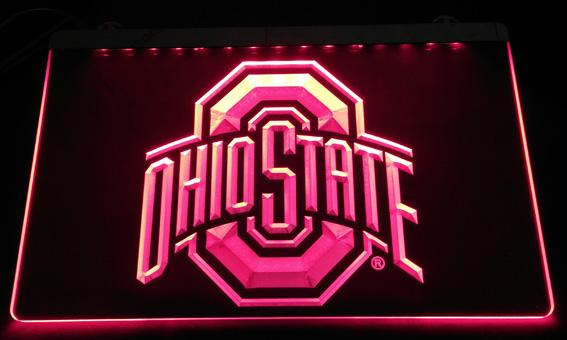 LS2442-r Ohio State LED Neon Light Sign Decor Free Shipping Dropshipping Wholesale 6 colors to choose