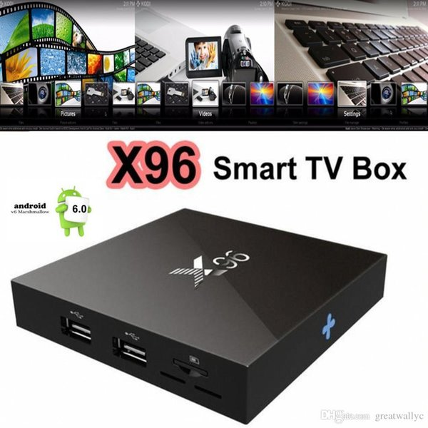4K Android 6.0 TV Box Amlogic S905X Quad Core X96 1G 8G Wifi HDMI 2.0A Google Media Player VS MXQ Pro