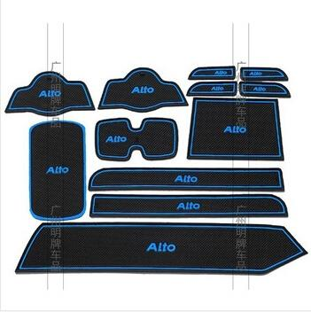 High Quality Gate Slot Pad Rubber Car-cup Mat Non-slip Mat Car Accessories For Suzuki Alto Car Styling