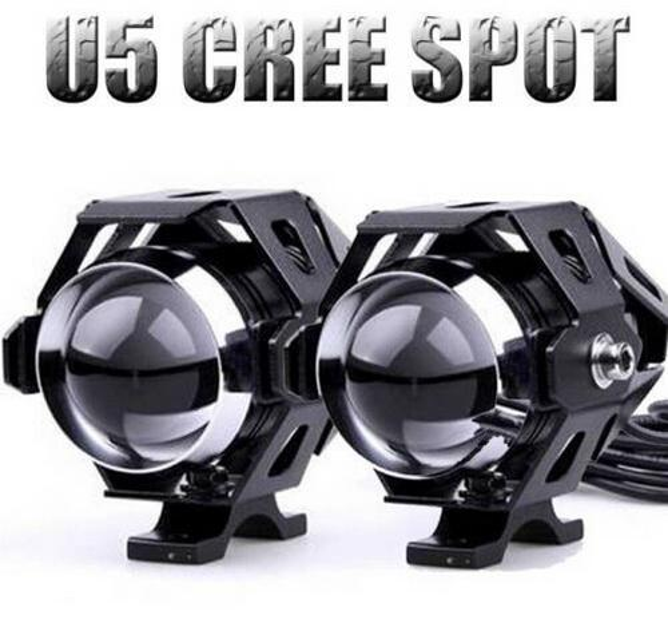 2016 MODE Moto conversion phare led super lumineux projecteurs u5 Transformers laser canon convergent Strobe noir argent couleur