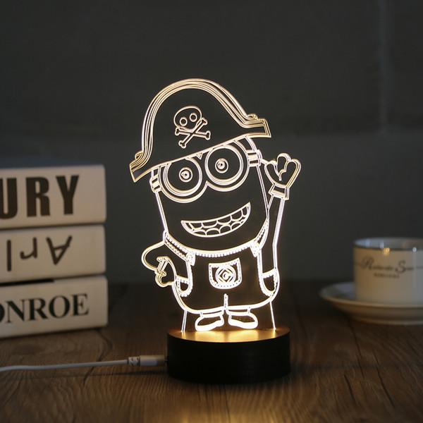 Venta al por mayor, luz de noche, 2017 nueva decoración del hogar de madera acrílico signo 3D luz LED lámpara de mesa de vida moderna micro USB heartlight dormitorio 0019