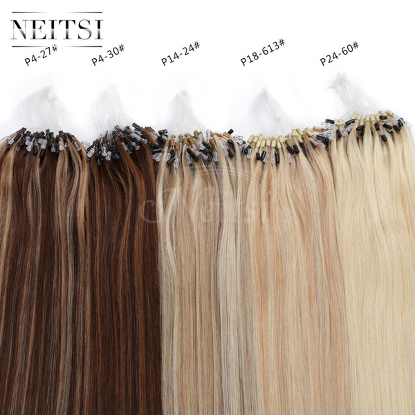Neitsi 20 50g1gs 100 Micro Loop Ring Links Human Hair Extensions