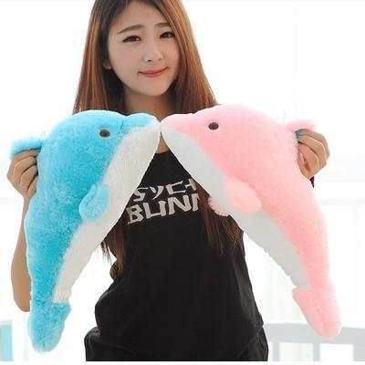 Al por mayor-1pcs 27cm Encantadora rellena azul del delfín del juguete del bebé del juguete del bebé regalo de los niños del día de los niños