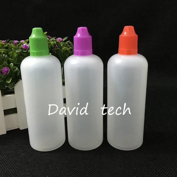 O envio gratuito de garrafas por atacado de 120 ml Garrafas Conta-gotas de Plástico E Garrafas de Líquido com Tampa de Segurança para Crianças e Longo Fino Dropper Ponta