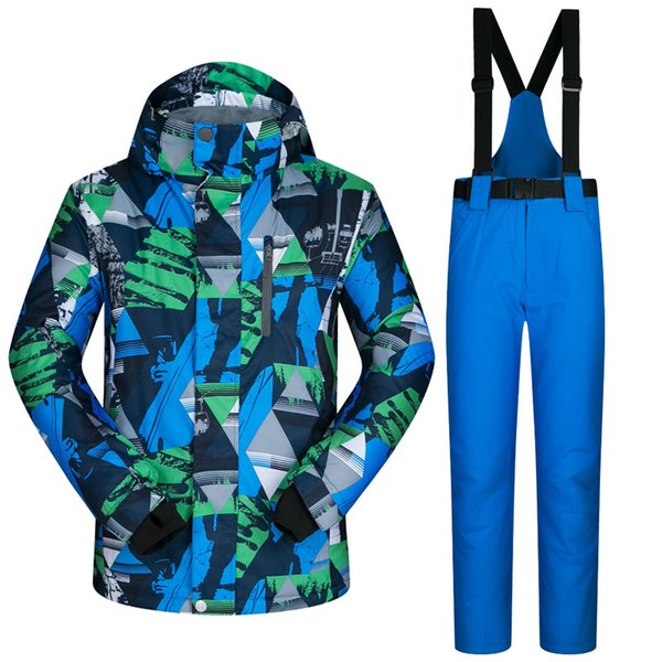 New Ski Suit Male Windproof Waterproof Thicken Clothes For Men Snowboard Jacket And Pants Brand Coat And Trousers Winter Wear