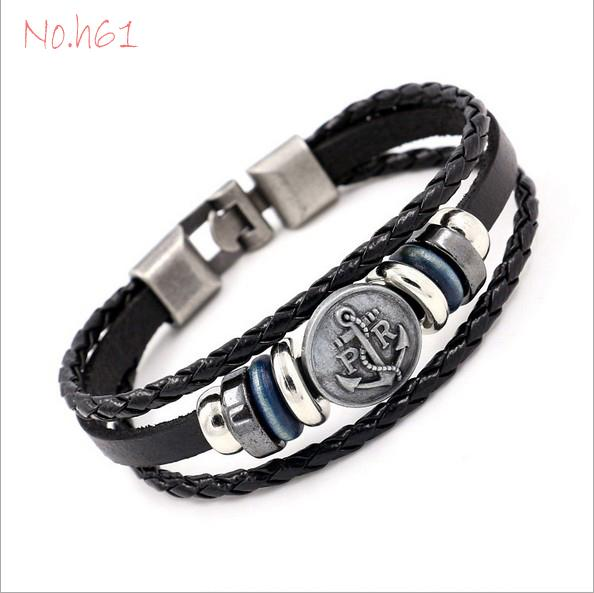 New Arrival 9 style Fashion Charms Clasps for Jewellery Designing Leather DIY European Bracelets & Cuffs & Bangles Pirate Anchor Lion Heart