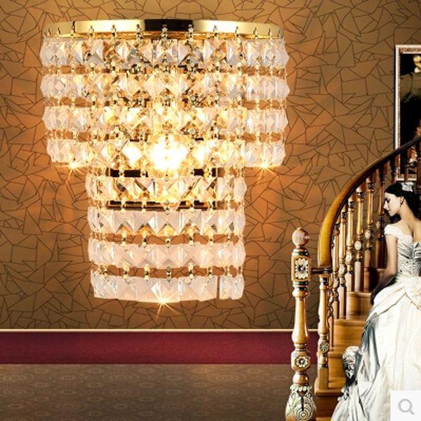 Luxury Wall Sconce Fixture K9 Crystal Wall Light Home Decor AC 90-220V Metal Modern Led lights for living room bedroom