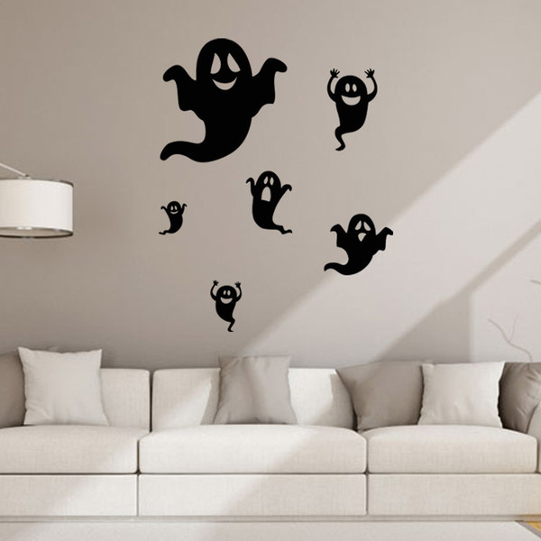 aw9434 Creative Halloween Ghost Wall Stickers DIY Creative Party Decoration Halloween Kids Gift Sticker Shop Store Window Decal
