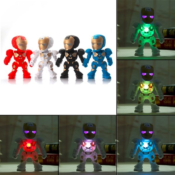 C-89 Iron Man Bluetooth Speaker with LED Flash Light Deformed Arm Figure Robot Portable Mini Wireless Subwoofers Music MP3 Player 01