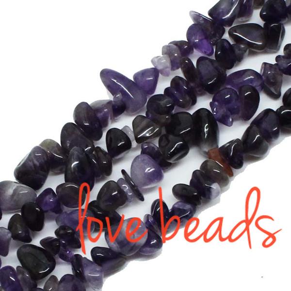"5-8mm Gravel Natural Smooth Purple Amethyst Loose Beads Stone Beads Strand 33"" Women wholesale Diy Bracelet (F00296) wholesale"