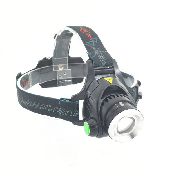 18650 Headlight 2000Lm XM-L T6 LED Head Lamp Zoomable Headlamp 3 Mode Head Flashlight Lanterna Hiking+Battery/Charger