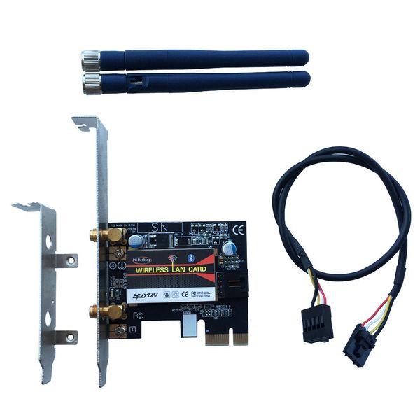Wholesale- BCM94352Z 802.11AC 867Mbps WiFi&Bluetooth 4.0 PC Desktop WLAN modul Card adapter &2DBI antenna&Bracket For Win7/8/10