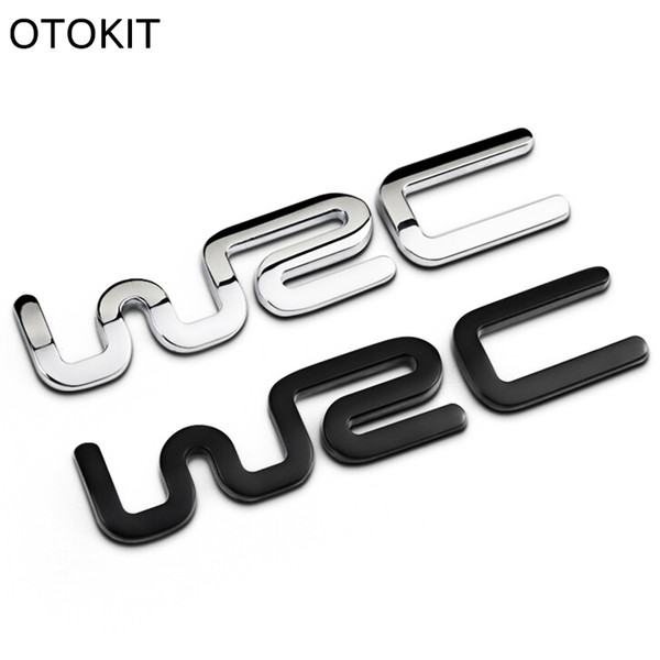 Alloy WRC 3D Metal Auto Car Badge Emblem Sticker for Toyota Yaris Ford Fiat Citroen Audi SUZUKI Volkswagen VW Golf Cruze