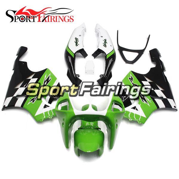 Schwarz-Grün-weiße Verkleidungen für Kawasaki ZX-7R ZX7R 96 97 98 99 00 01 02 03 1996 - 2003 ABS-Motorrad-Verkleidung Bodywork Motorcycle Cowlings