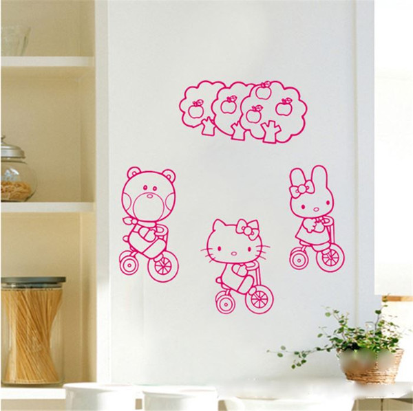 Kidu0027s Home Decor Decal Wall Decor DIY Home Decoration Living Room Sticker  Cat Decals Free Shipping Part 66