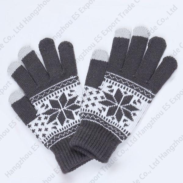 Guanti invernali touch screen Guanti a cinque dita in maglia lavorati a maglia stile unisex 5 colori morbidi e caldi