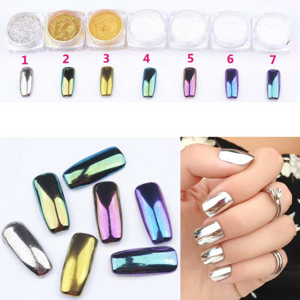 2016 Newest Professional Nail Art Nail Pait Powders Mirror Metal ...