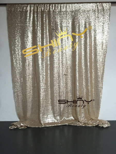 best selling 4x6ft Champagne Sequin Backdrop Curtains Photo Booth Wedding Props Glitter Party Background Decorations