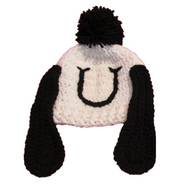 Adorable Crochet Puppy Hat,Handmade Knit Crochet Baby Boy Girl Dog Animal Pompom Beanie,Kids Halloween Costume,Infant Toddler Photo Prop
