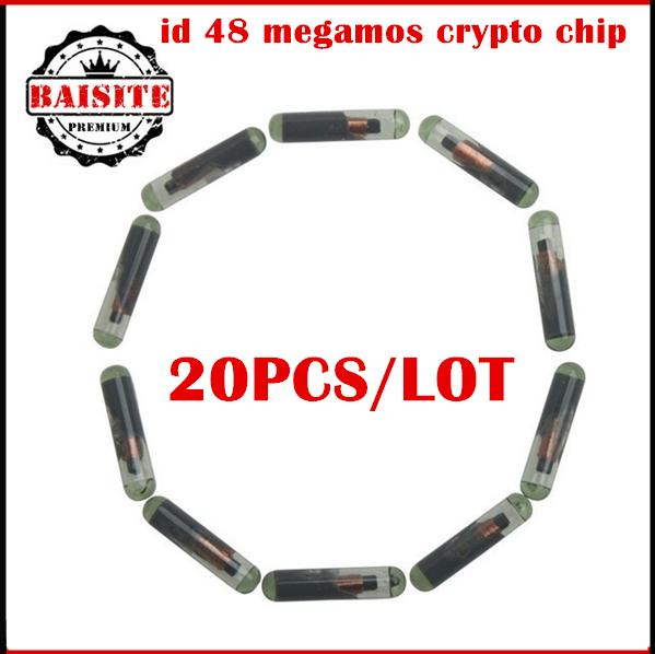 Professional car transponder chip ID48 ID:48 ID 48 Glass Transponder Chip programmer blank id 48 megamos crypto chip 20pcs/lot