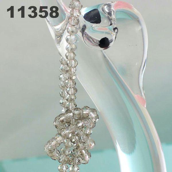 4 мм кристалл браслет наконечник из бисера свободные бусины модные сумки весь шнур браслет DIY руководство может металлик серый 11358