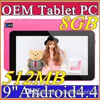 """best selling Cheapest 9 inch 9"""" Dual camera Quad Core Android 4.4 KitKat Tablet PC 512MB 8GB 1.2GHz Allwinner A33 Bluetooth B-9PB"""