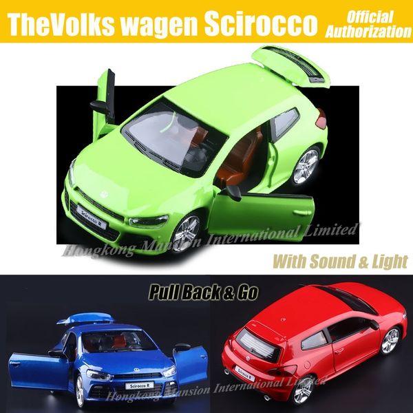 1:32 Luxus Diecast Alloy Metal Automodell Für TheVolks wagen Scirocco Collection Modell Zurückziehen Spielzeug Auto - Grün / Blau / Rot