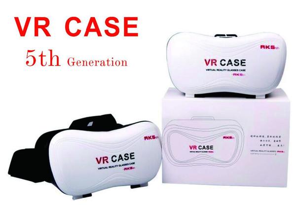 5-го поколения VR CASE BOX версия VR виртуальной реальности 3D очки для 3.5-6.0 дюймов + Smart Bluetooth пульт дистанционного управления