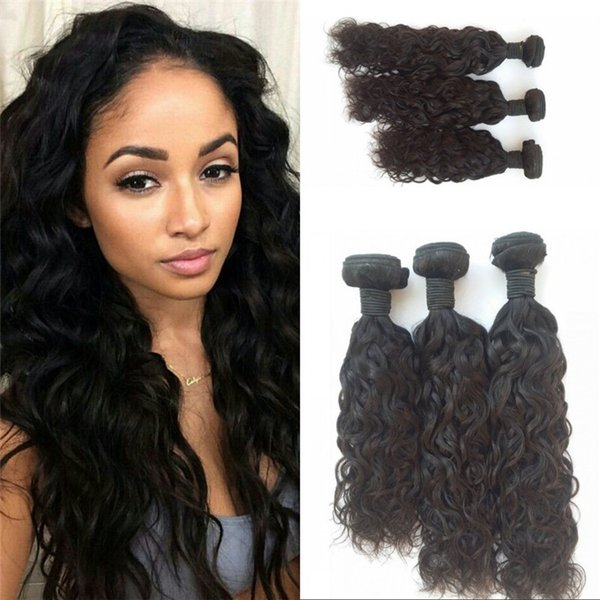 Water Wave Natural Color Vietnamese Virgin Human Hair Weaves Bundles 8-30 inch Double Weft Can be Dyed FDSHINE