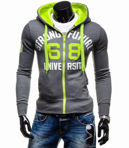 Free shipping Fashion Brand Slim Fit 95% Cotton Hoody Male Sportswear Men's Hoodie Casual Male Tracksuits Sweatshirt Sport Suit Men Hoodies