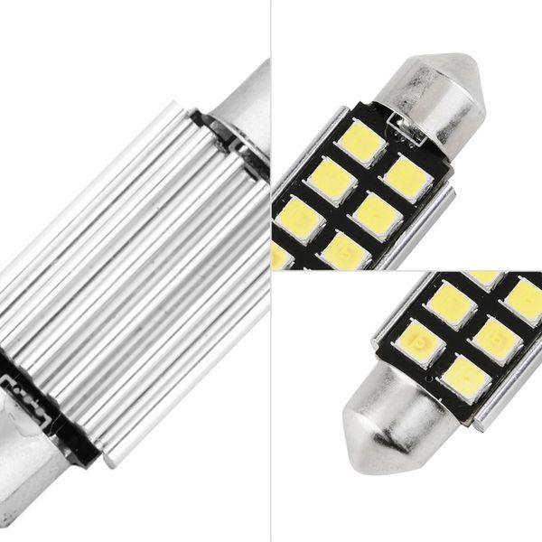 36mm White Dome Festoon CANBUS Error Free Car 8 LED Light c5w led Lampada auto Lampadina 12V led luce interna