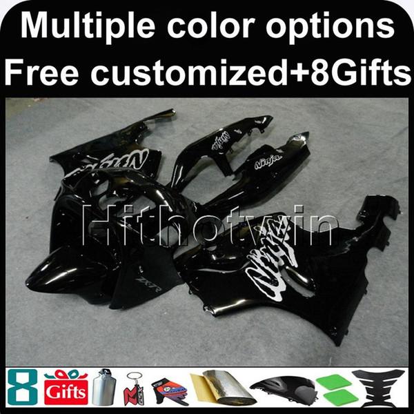 23colors+8Gifts BLACK ZX7R 1996 1997 1998 1999 2000 2001 2002 2003 bodywork motorcycle Fairing For Kawasaki 1996 - 2003