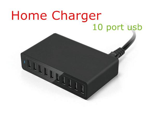 2016 Новый 10 портов usb зарядное устройство США Многофункциональный usb fast 10 в 1 зарядн