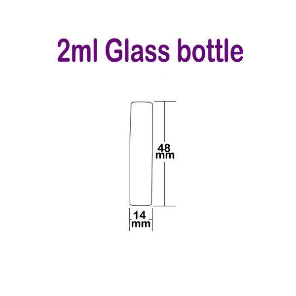 botella de vidrio de 2 ml