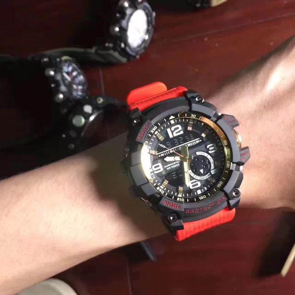2018 Venta Caliente Reloj Inteligente Hombres G Estilo Ejército Militar Impermeable Relojes Deportivos Relojes Auto Light LED Relojes de Moda Hombre de Goma Reloj GG1000