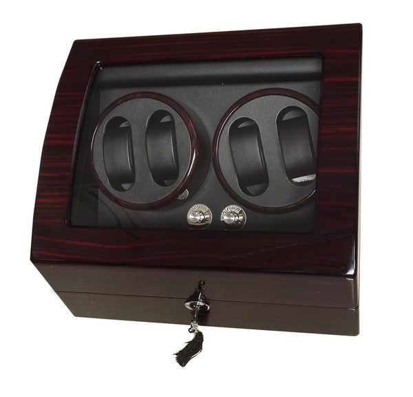 top popular Luxury Automatic Watch Winder Box 4+6 Grids Mechanical Watch Winder Brand Watches Piano Wood Gloosy Leather With Lock Key EXW Drop Shipping 2021