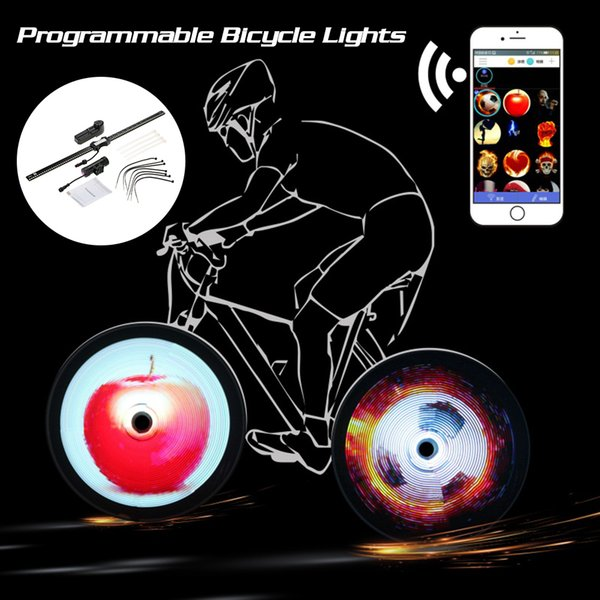 v144pcs RGB LED Bicycle Spokes Lights Color Changing Programmable Waterproof Bicycle Wheel Light Bike Light Lamp