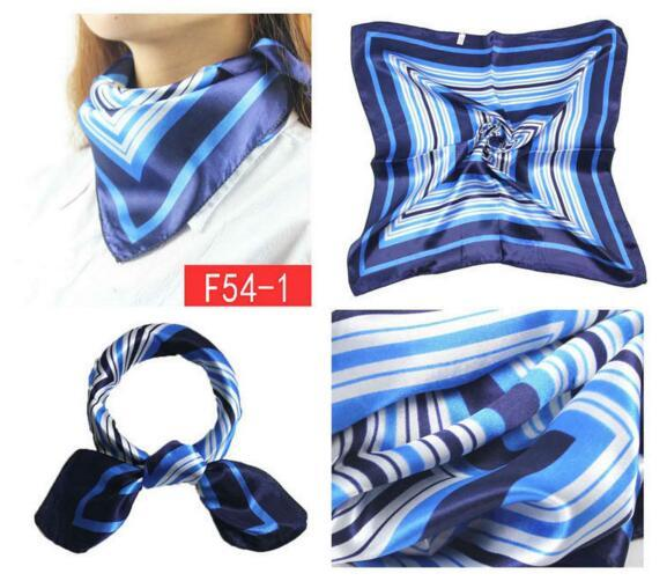 Wholesale-Fashion 50*50cm Imitated Silk Square Scarf Colorful Women Fashion Brand High Quality Satin Scarves Shawl 15 style-3